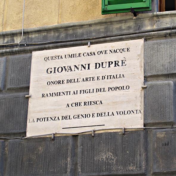 Targa per Giovanni Duprè